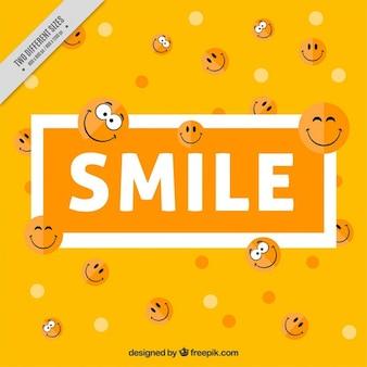 Śliczne tło z uśmiechami