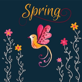 Śliczne wiosna ptaków w tle
