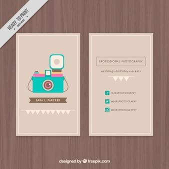 Śliczne wizytówkę z ilustrowany kamery