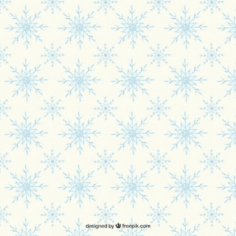 Śliczne wzór ozdobnych płatki śniegu