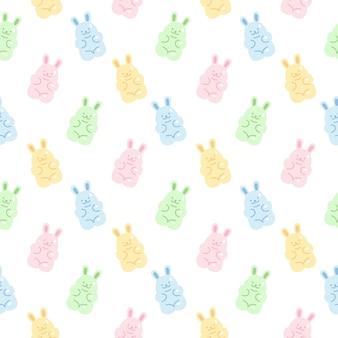 Śliczne żelki królika galaretki cukierki wzór