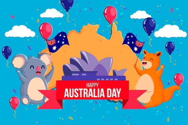 Śliczne zwierzęta świętują dzień australii