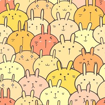 Ślicznego królika bezszwowy deseniowy tło