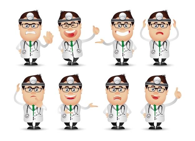Śliczni ludzie-profesjonalista-lekarz