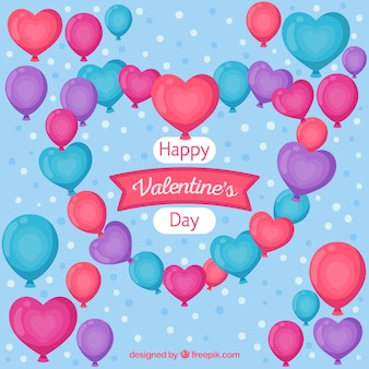 Śliczni valentine tła de globos