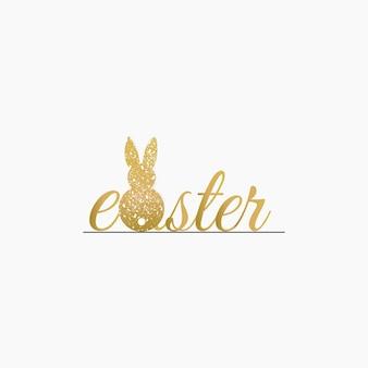 Śliczny adorable easter bunny rabbit animal illustration background vector design