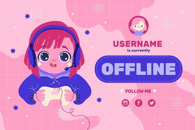 Śliczny baner dla platformy twitch offline