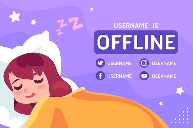 Śliczny baner drgań offline