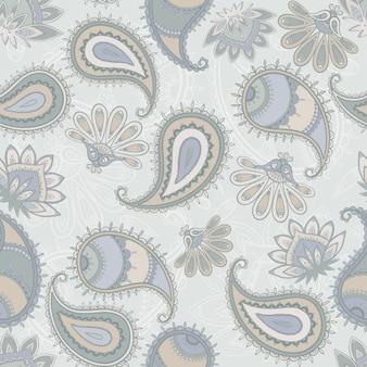 Śliczny bezszwowy paisley wzór. ilustracja wektorowa.
