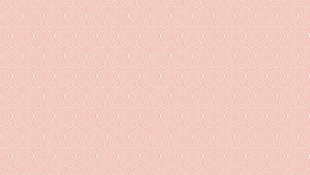 Śliczny biały kwiatowy wzór na różowym tle