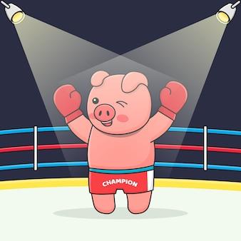 Śliczny bokser świnka