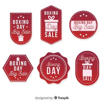 Śliczny bokserski dzień sprzedaży odznaki collectio