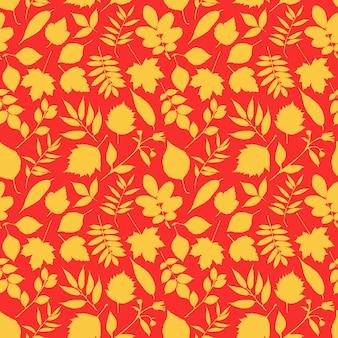 Śliczny czerwono-żółty wzór liści