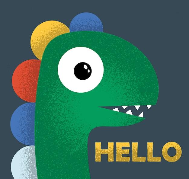 Śliczny dinozaur