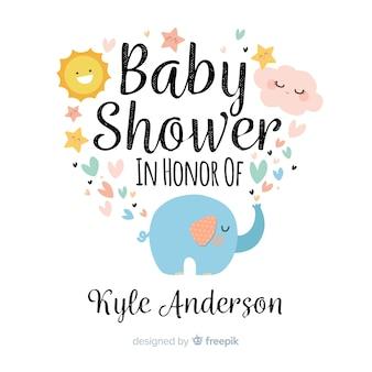 Śliczny dziecko prysznic tło