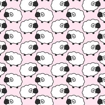 Śliczny dziecko wzór owiec