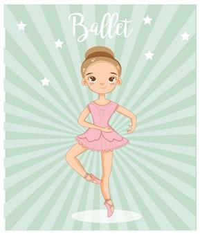 Śliczny dziewczyna baletniczy tancerz