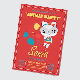 Śliczny dziewczyny szop pracz i balony dla wszystkiego najlepszego z okazji urodzin karty