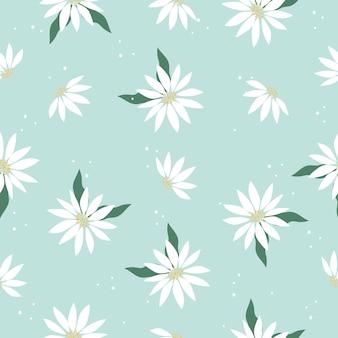 Śliczny elegancki rocznik kwitnie bezszwowego deseniowego tło