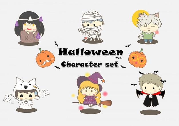 Śliczny halloweenowy charakter