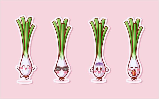 Śliczny i kawaii lemongrass zestaw naklejek o różnej aktywności i ekspresji
