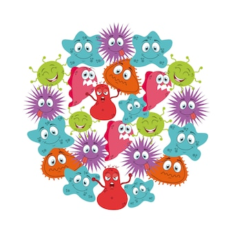 Śliczny infekcja projekt, wektorowa ilustraci eps10 grafika