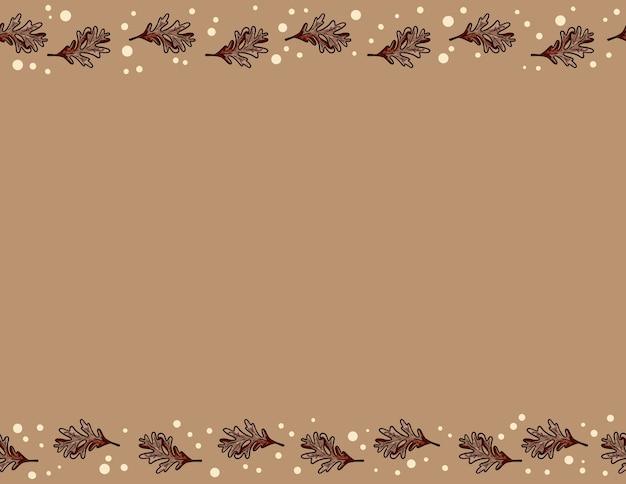 Śliczny jesień dębu liści bezszwowy wzór. spadek dekoraci tła tekstury płytka. miejsce na tekst