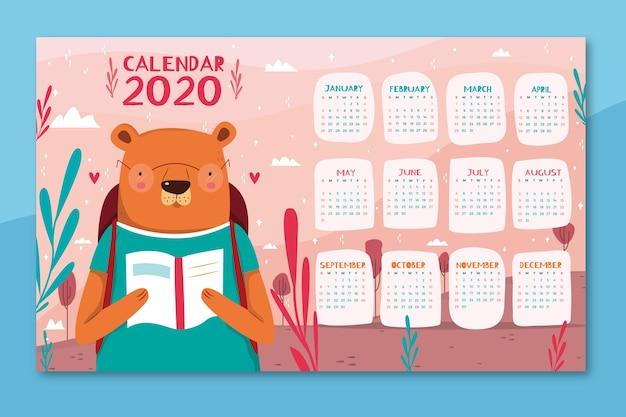 Śliczny kolorowy kalendarz