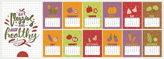 Śliczny kolorowy kalendarz.