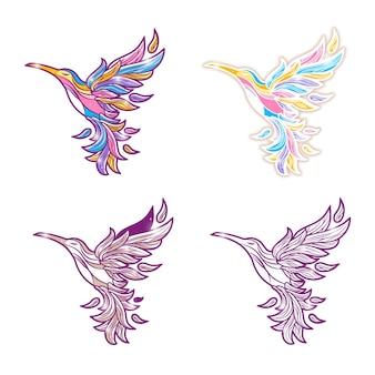 Śliczny kolorowy koliber