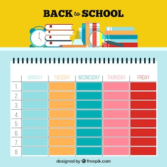 Śliczny kolorowy szablon lekcji szkoły