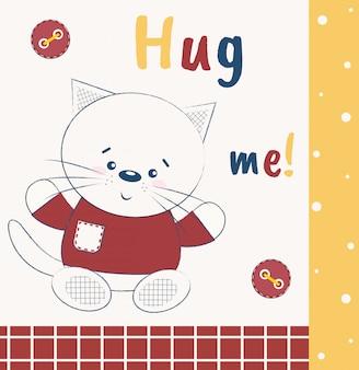 Śliczny kot mówi przytul mnie