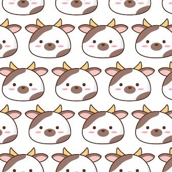 Śliczny krowa wzór z milik