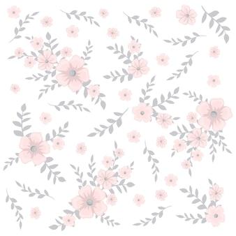 Śliczny kwiecisty wzór w małym kwiacie.
