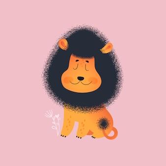 Śliczny lew