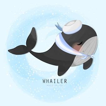 Śliczny mały wieloryb