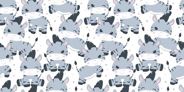 Śliczny mały wzór zebry dla dzieci tapety z tkaniny i wiele innych