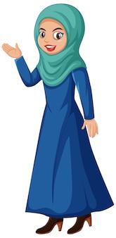 Śliczny muzułmański charakter dziewczyny