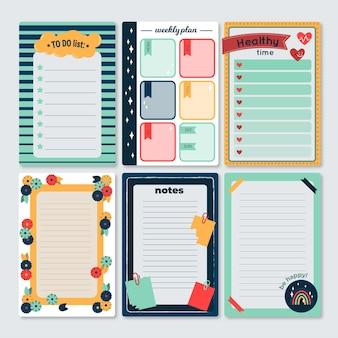 Śliczny notatnik i opakowanie kart