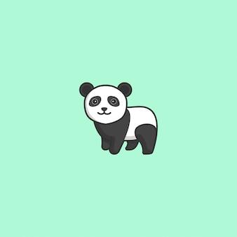 Śliczny panda wektor
