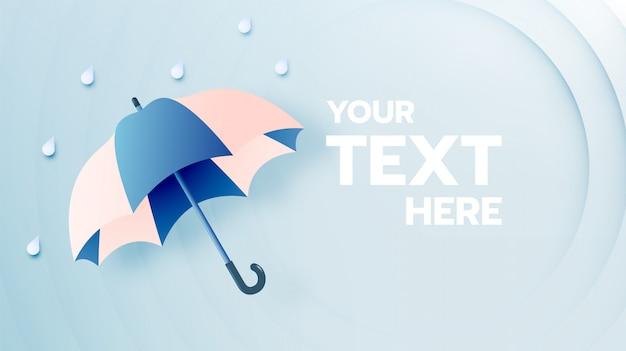 Śliczny parasol na sezon monsunowy