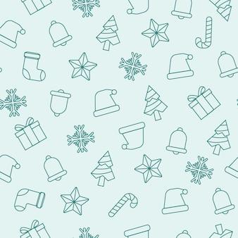 Śliczny płaski wzór bożonarodzeniowy