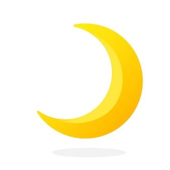 Śliczny półksiężyc na białym tle ilustracja wektorowa półksiężyca