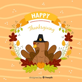 Śliczny ręcznie rysowane tła dziękczynienia