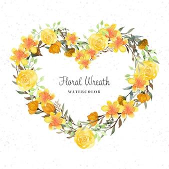 Śliczny rustykalny wieniec kwiatowy z dzikim kwiatem