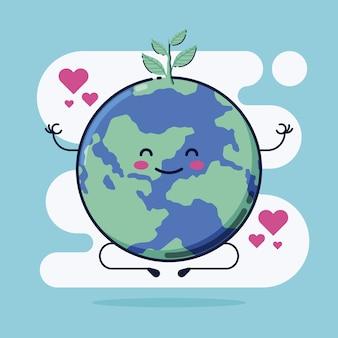 Śliczny save planety ilustrację