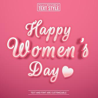 Śliczny skrypt kobiecy różowy efekt tekstowy