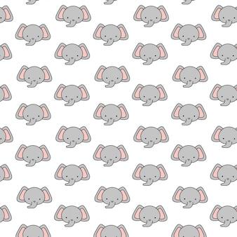Śliczny słonia dziecko wzór