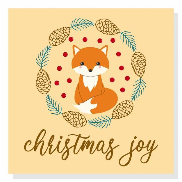 Śliczny świąteczny lis