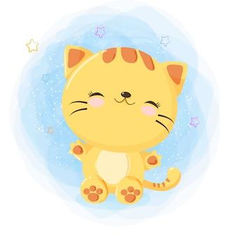 Śliczny szczęśliwy kot